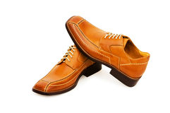 Orange shoes isolated Stock Photography