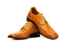 Orange shoes isolated Royalty Free Stock Images