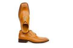 Orange shoes isolated Stock Photos