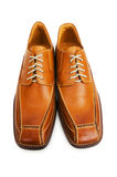 Orange shoes isolated Royalty Free Stock Image