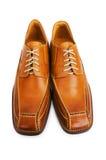 Orange shoes isolated Royalty Free Stock Image