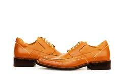 Orange shoes isolated Royalty Free Stock Images