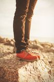 Orange shoes Royalty Free Stock Photography