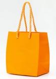 Orange shopping bag. Royalty Free Stock Photo