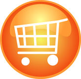 Orange shopping button Stock Photo