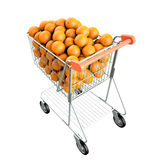 Orange in a shopping cart Stock Image