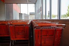 Orange shopping carts Stock Image