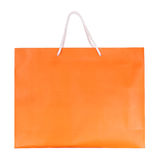 Orange shopping paper bag Royalty Free Stock Photography
