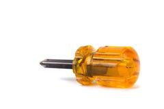 Orange short screwdriver isolated Stock Images
