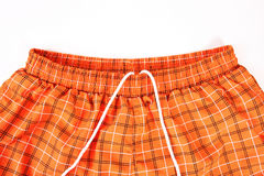 Orange shorts detail Royalty Free Stock Photography
