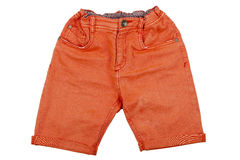 Orange shorts Royalty Free Stock Photography