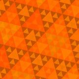 Orange Sierpinski-Muster Stockbilder