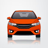 Orange sikt för bilsymbolsstilsort också vektor för coreldrawillustration Royaltyfria Foton