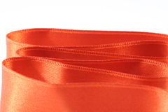 Orange silk royalty free stock image