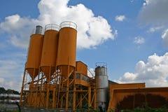 Orange silos Stock Images