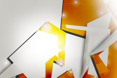 orange and silver design border, abstract background Stock Images