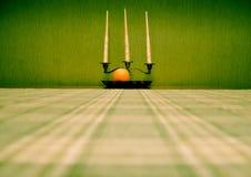 orange silver för ljusstakefruktlivstid fortfarande Royaltyfri Fotografi