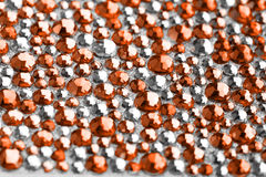 Orange and silver texture Stock Image