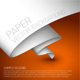 Orange simple background with white paper Royalty Free Stock Images