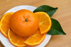 Orange single and part Royalty Free Stock Photo