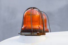 Orange siren signal lamp for warning Royalty Free Stock Photos