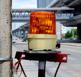 Orange sirenlampa Royaltyfri Bild
