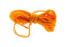 Orange six strand floss Stock Photography