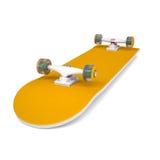 Orange skateboard Royalty Free Stock Image