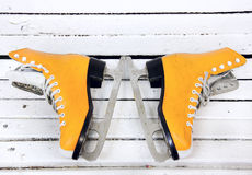 Orange skates Royalty Free Stock Photos