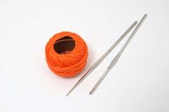 Orange skein Royalty Free Stock Photos