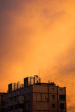 orange skies Arkivfoto
