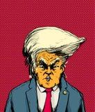 Orange Skinned Trump in Bouffant Hairdo Royalty Free Stock Photo