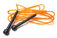 Orange skipping rope Stock Photo