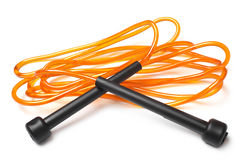 Orange skipping rope Royalty Free Stock Photography