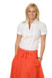Orange Skirt Stock Photo