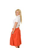 Orange Skirt Stock Photos