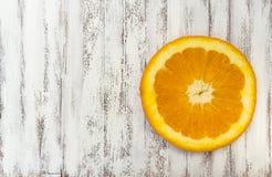 Orange skiva Arkivfoto