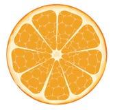 orange skiva stock illustrationer