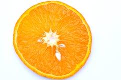 orange skiva för closeup Arkivbilder
