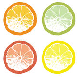 orange skiva för fruktsaft Arkivbilder