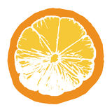 orange skiva för fruktsaft Arkivfoton