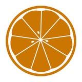 Orange skivad vektorsymbolsillustration som isoleras på vit bakgrund royaltyfri illustrationer