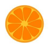 Orange skivaillustration Vektor Illustrationer