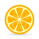 Orange skivavektorsymbol vektor illustrationer