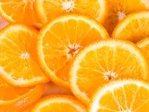 orange skivor Arkivbild