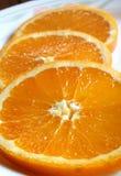 orange skivor Royaltyfri Bild