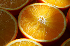 orange skivor Royaltyfria Foton
