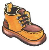 orange sko Royaltyfri Foto