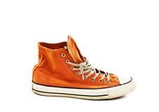 Orange sko för tappning Royaltyfri Bild