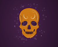 Orange skull Royalty Free Stock Photo